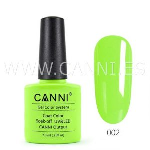 canni esmalte permanente amarillo verdoso vivo uv led