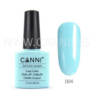 canni esmalte permanente azul celeste saturado uv led
