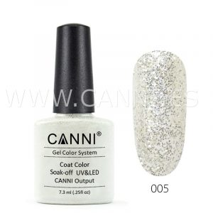 canni esmalte permanente purpurina plata glitter uv led