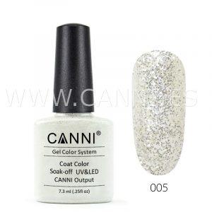 canni esmalte permanente purpurina plata glitter uv led
