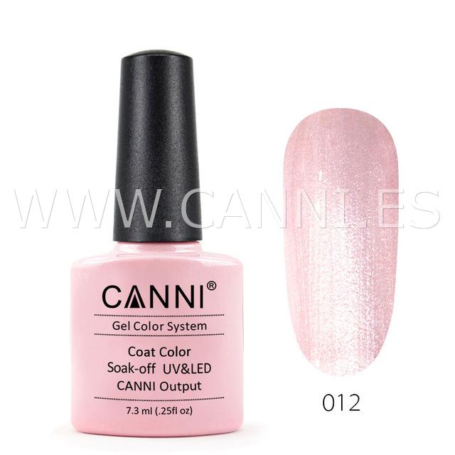 canni esmalte permanente rosa con perla crema uv led