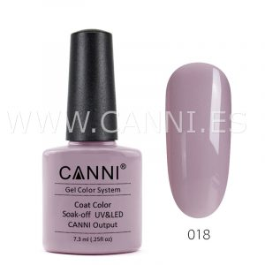 canni esmalte permanente gris rosado claro uv led