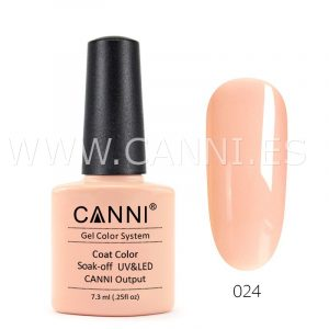 canni esmalte permanente rosa anaranjado uv led