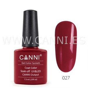 canni esmalte permanente rojo oscuro uv led