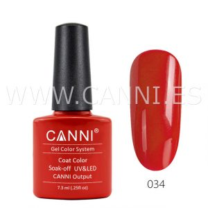 canni esmalte permanente roja zanahoria uv led
