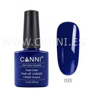 canni esmalte permanente azul marino oscuro uv led