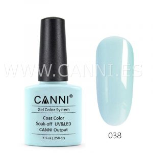 canni esmalte permanente gris azulado claro uv led