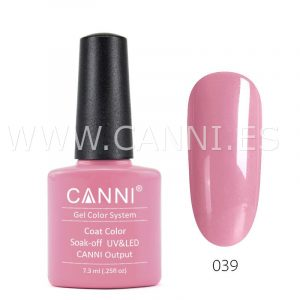 canni esmalte permanente flor de rosa uv led