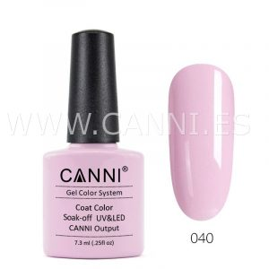canni esmalte permanente rosa suave uv led