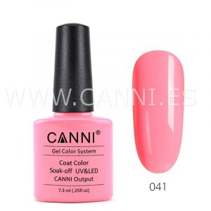 canni esmalte permanente rosa cálido uv led