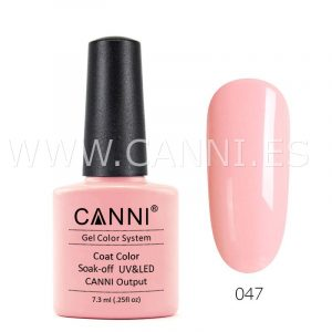 canni esmalte permanente rosa melocotón uv led