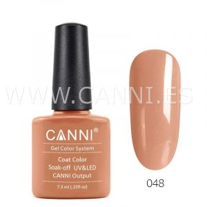 canni esmalte permanente naranja suave uv led