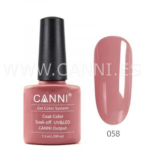 canni esmalte permanente nude rosa uv led