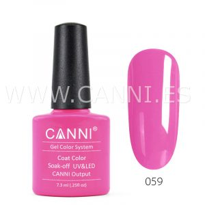 canni esmalte permanente rosa vivo uv led