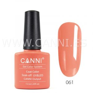 canni esmalte permanente coral naranja uv led