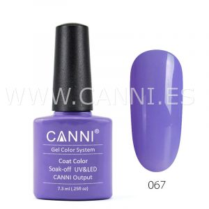canni esmalte permanente morado pálido uv led