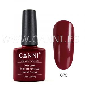 canni esmalte permanente rojo granate uv led
