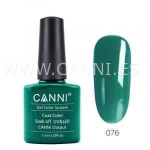 canni esmalte permanente verde esmeralda oscuro uv led