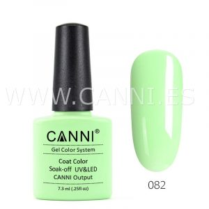 canni esmalte permanente verde pastel uv led