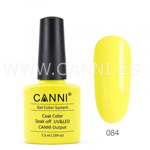 canni esmalte permanente amarillo pastel uv led